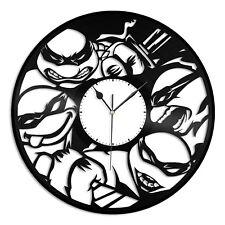 Teenage Mutant Ninja Turtles Vinyl Wall Clock Unique Art Design Kids Room Decor