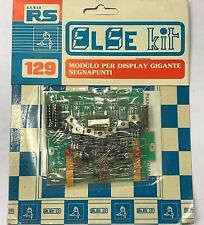 ELSE KIT RS 129 MODULO DISPLAY GIGANTE SEGNAPUNTI KIT DIDATTICO ELETTRONICO