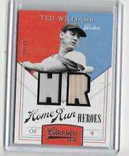 TED WILLIAMS 2014 PANINI CLASSICS HOME RUN HEROES GAME JERSEY/ BAT CARD #90/99