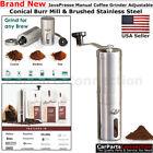 JavaPresse Manual Coffee Grinder Adjustable Conical Burr Mill Hand Crank Grinder