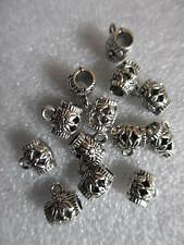 30 Pendant Bails Tibetan Silver Spacers Barrel Beads for Craft Jewellery Making