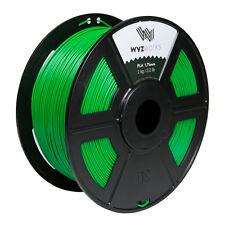 Green PLA 1.75mm WYZworks 3D Printer Premium Filament 1kg/2.2lb