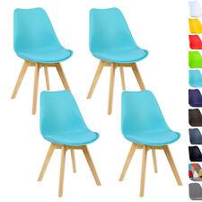 4er Set Esszimmerstühle Design Esszimmerstuhl Küchenstuhl Holz Blau BH29bl-4