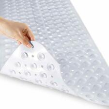 Original Bath Tub Shower Mat Extra Long 16 x 40 Inches, Non-Slip with Drain Hol