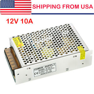 AC 110-220V TO DC 12V 10A 120W Switch Power Supply Driver adapter for LED Strip