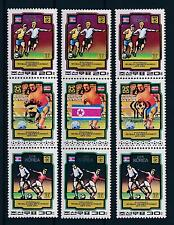 [59416] Korea 1980 World Cup Soccer Football with 3 different labels MNH