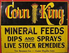 """TIN SIGN """"Corn King""""""""  Garage Mancave Wall Decor"""