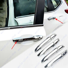 For Honda Crv Cr-V 2017-2018 Chrome Door Handle Cover Trim Smart Key Holes 8pcs