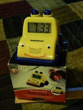 Radio Shack ~ Voice Recording KIDS' CLOCK ~ Yellow Anthropomorphic Buggy Car
