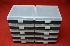 10 x 357 Mag / 38 Spl Ammo Box / Case / Storage 100 Round Boxes Clear Color