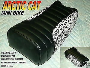 Arctic cat Mini bike seat cover Ramrod prowler climber leopard side 320