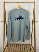 Patagonia Men's Trout Logo Long Sleeve Responsibili-tee T-Shirt Size XL
