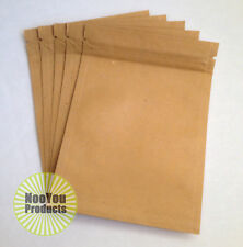 100 Brown Kraft 3.5x5 Smell Proof Pouches, Bakery & Coffee Bags, Tea Coffee Herb