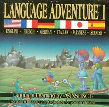 Language Adventure 1 PC CD speak foreign language English Spanish German + game!