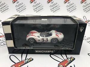 "Die Cast "" Maserati Type 61 Riverside Time Gp 1960 Winner Bill Krause "" 1/43 Mi"