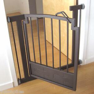 """34""""-40"""" Royal Indoor Dog & Pet Adjustable Metal Safety Gate - Mocha Brown"""