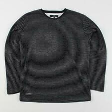 Cotton Blend Long Sleeve Striped T-Shirts for Men
