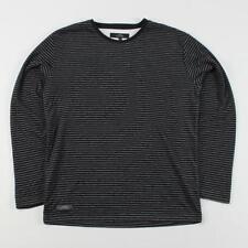 Cotton Blend Striped Long Sleeve Basic T-Shirts for Men