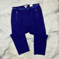 Chicos Ultimate Fit Dress Pants Size 3 Ankle Womens 16 Purple Tapered Slims
