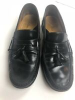 Cole Haan Black Leather Tassel Casual Loafers Shoes Mens Size 11.5 M