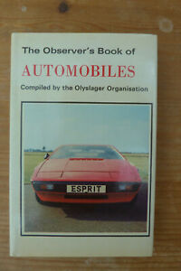 Observer's Book of Automobiles 1978 edition Lotus Esprit cover