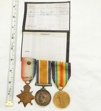 Military WW1 Mons Star Trio Medal Group With 2nd Bedford Regiment Rosette (5065)