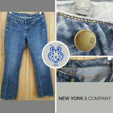 New York & Company Women's jeans pants Size:6 P blue Low Rise, Bootcut, Curvy