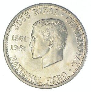1961 Philippines 1/2 Peso - TC *806