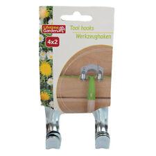 4 Stück Werkzeughalter Gartengerätehalter Werkzeughaken Gerätehalter Gerätehaken
