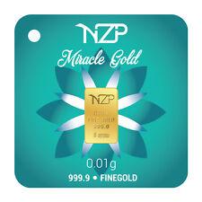 0.01 gram gold bar 999,9 Goldbarren goudstaaf lingot d'oro barra de oro guldtack