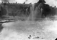 HAMPTON COURT Antique Photographic Glass Negative (1910s Royal Palace Grounds)