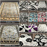GREY SILVER MODERN HIGH QUALITY LOW PRICE ABSTRACT HERITAGE GEOMETRIC RUG RUNNER