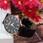Montre Capitonner Quartz Analogique Watch Cuir Femme Homme Mode Cadeau Fashion