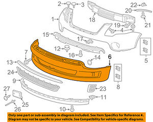 GMC GM OEM 11-12 Acadia Front Bumper-Lower Cover 22821302