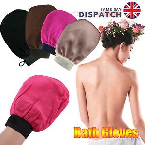 Exfoliating Body Moroccan Bath Scrub Glove Hammam Facial Tan Massage Mitt UK