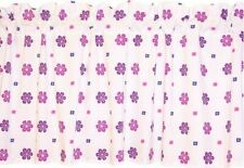 NEW window valance PURPLE flowers FLORAL on WHITE