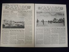 1945 CASALOG CIVIL AFFAIR NEWSPAPER LOT OF 4 ISSUES - NICE PHOTOS - NP 1832