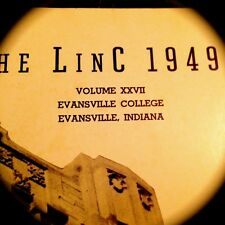 """1949 EVANSVILLE COLLEGE YEARBOOK """"LINC""""[ Indiana] -- Very fine, used condition"""