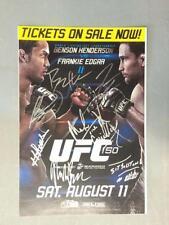 BENSON HENDERSON FRANKIE EDGAR UFC 2012 SIGNED POSTER BOXING MMA