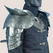 MEDIEVAL GOTHIC FANTASY Steel Shoulder Guard DARK WARRIOR PAULDRON ARMOR New