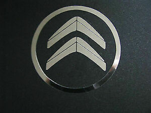 Citroen wheel centre decal trim stickers X 4 Chrome