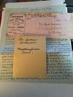 1869 Handwritten Letter Dr Joshua Andrews Ambrose Niagra Insurance Wall St NY