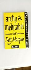 Archy and Mehitabel, Don Marquis, Faber Paperback edition