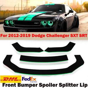 Front Bumper Spoiler Splitter Lip Green For 2012-2019 Dodge Challenger SXT SRT