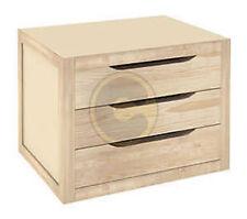 Cassettiera Legno 3 Cassetti In Pino Naturale Mobile Arredamento Cm 39x30x29