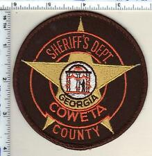 Coweta County Sheriff's Dept (Georgia) Uniform Take-Off Shoulder Patch from 1997