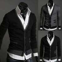 ST94 New Mens Casual Slim Fit Long Sleeve Sweaters Shirts 2 colors