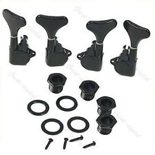 Black Guitar Sealed Tuners Tuning Pegs Machine Heads 2R2L For 4 String Bass New