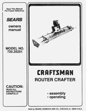 Sears Craftsman Router Crafter Owners Manual 720.25251