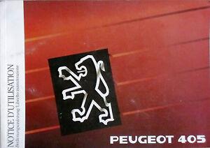 Bedienungsanleitung PEUGEOT 405 - Artikelnummer DCM 39.78